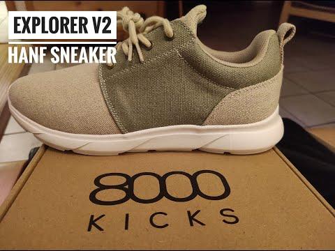 Hanf-Sneakers von 8000 Kicks