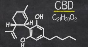 Cannabidiol - chemische Formel