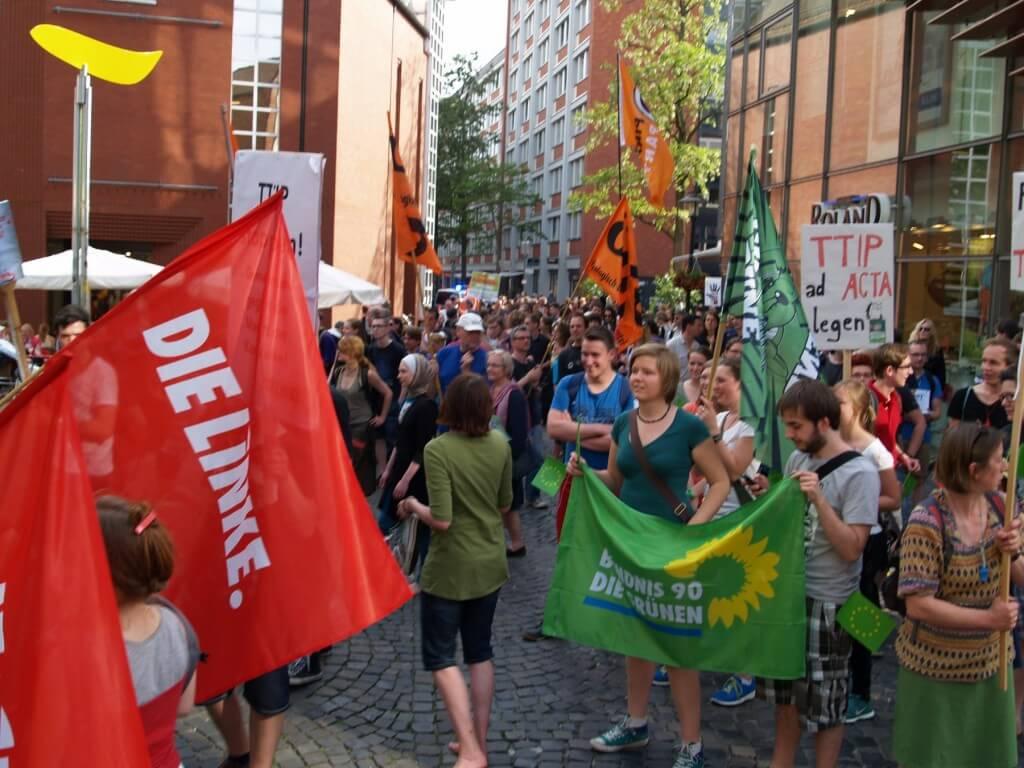 Linke, Grüne und Piraten für Mairhuana Legalisierung aber gegen TTIP!