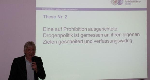 Hubert Wimber erklärt die Prohibition öffentlich als gescheitert