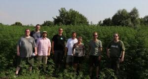 Das Gruppenfoto vor dem Hanffeld