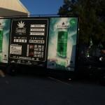 Werbewagen für die Cannabis XXL 2015