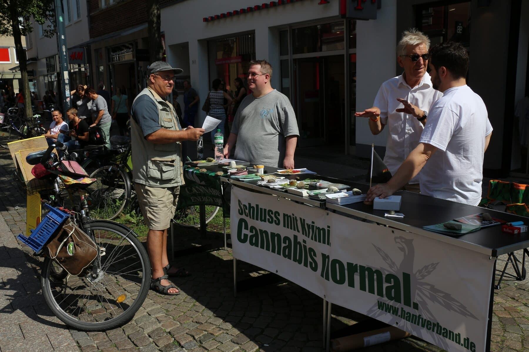 Herr Seemann besucht die Hanffreunde Münster mit dem Rad