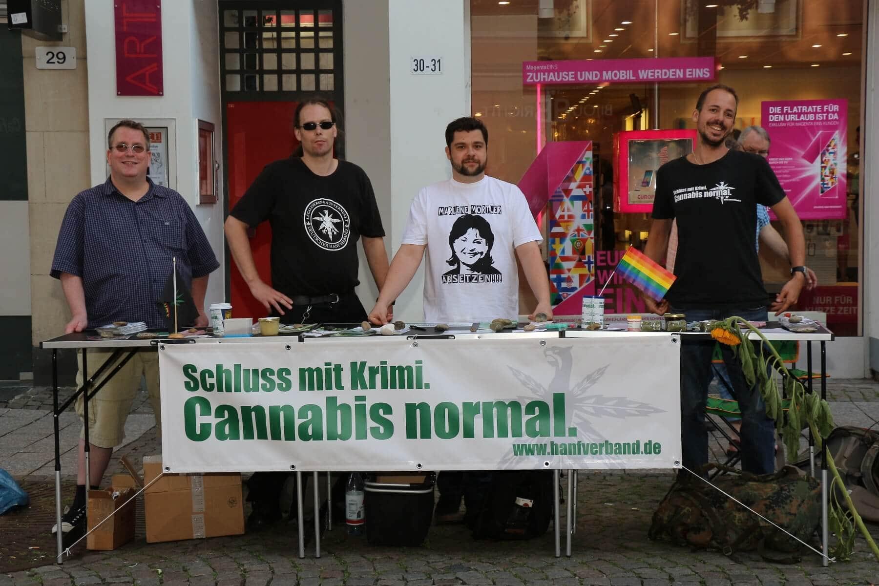 Von Links nach Rechts, Markus Strotmann, Robert Brungert, Dominique Sarres und Micha Greif