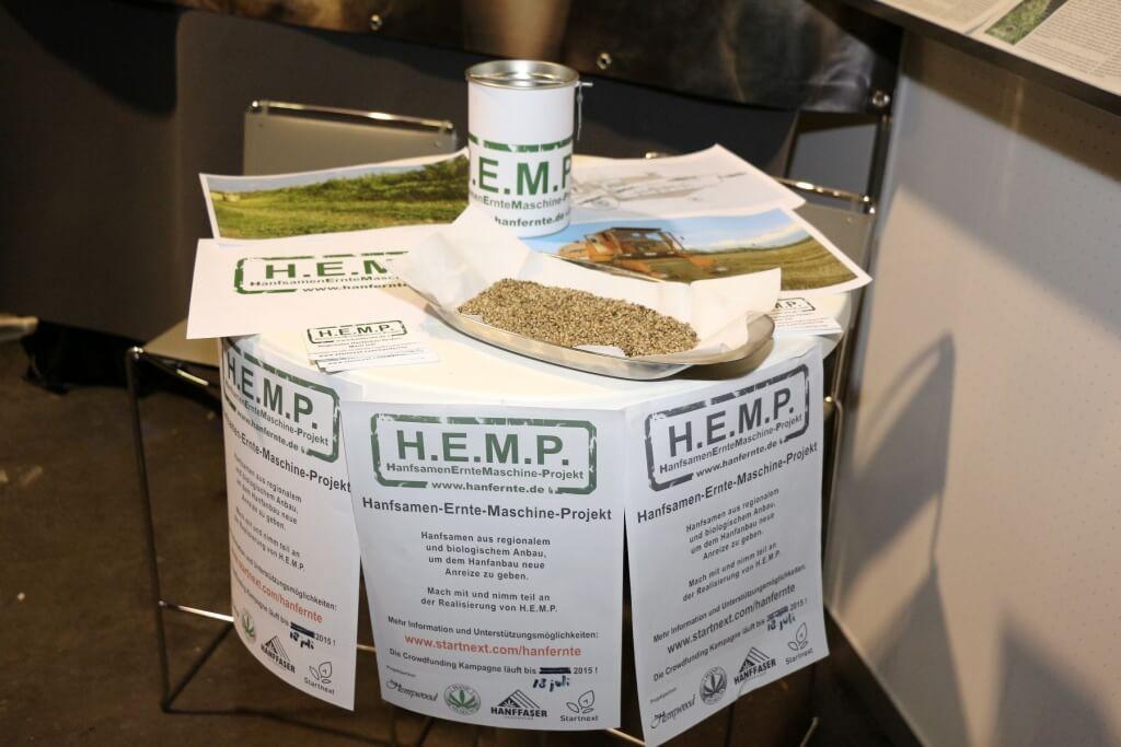 Die H.E.M.P. Erntemaschine soll eine zweites Erntegut erschließen