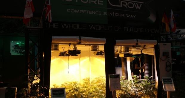 Hanfmesse Cultiva mit Marihuanapflanzen