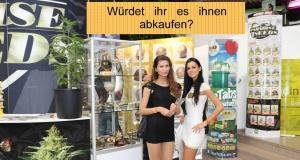 Cannabis Kommerzialisierung mit weiblichen Reizen