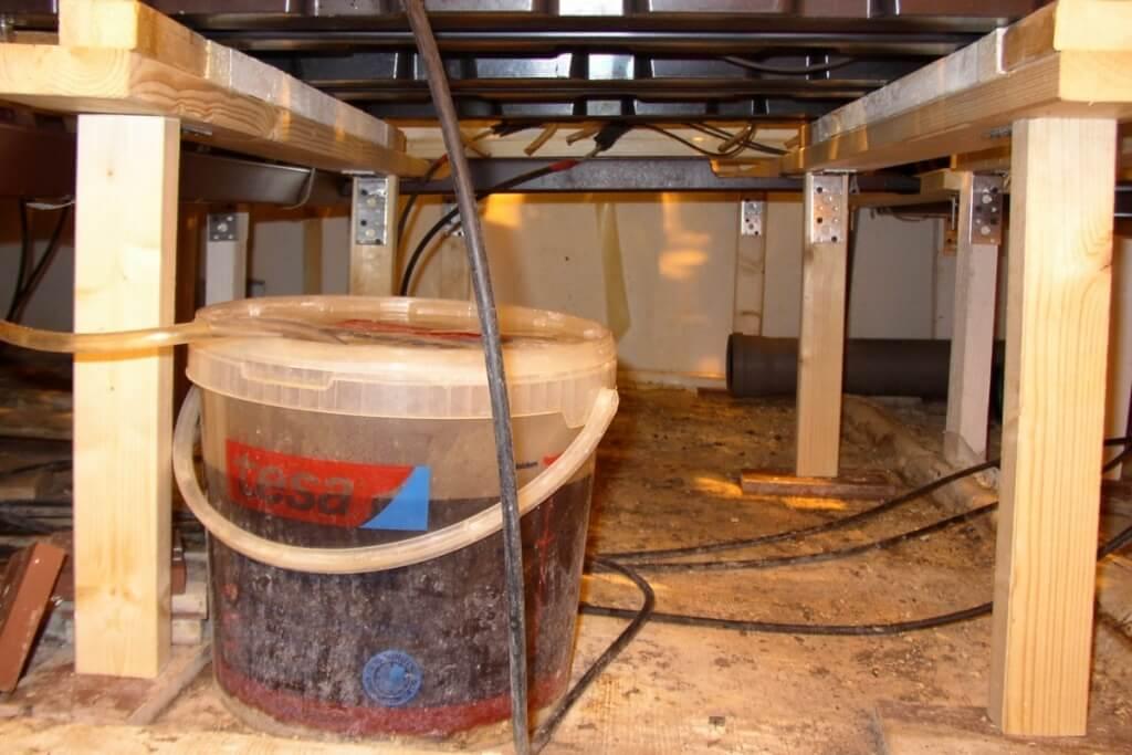 Für die automatisierte Wässerung auch das Dränagewasser auffangen