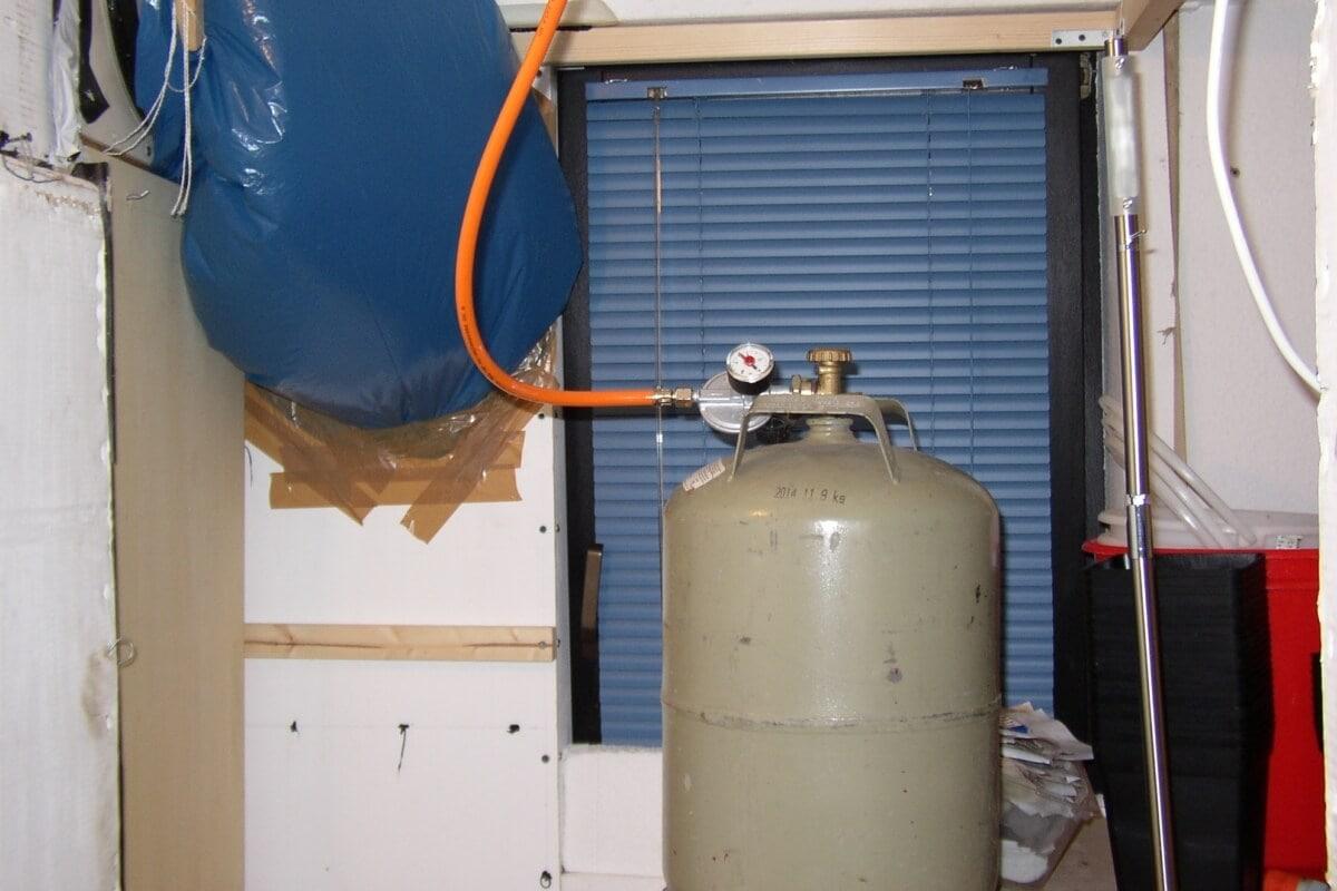 Einen Thermostat Katalytofen Gab Es Nicht Growkammer Temperierung