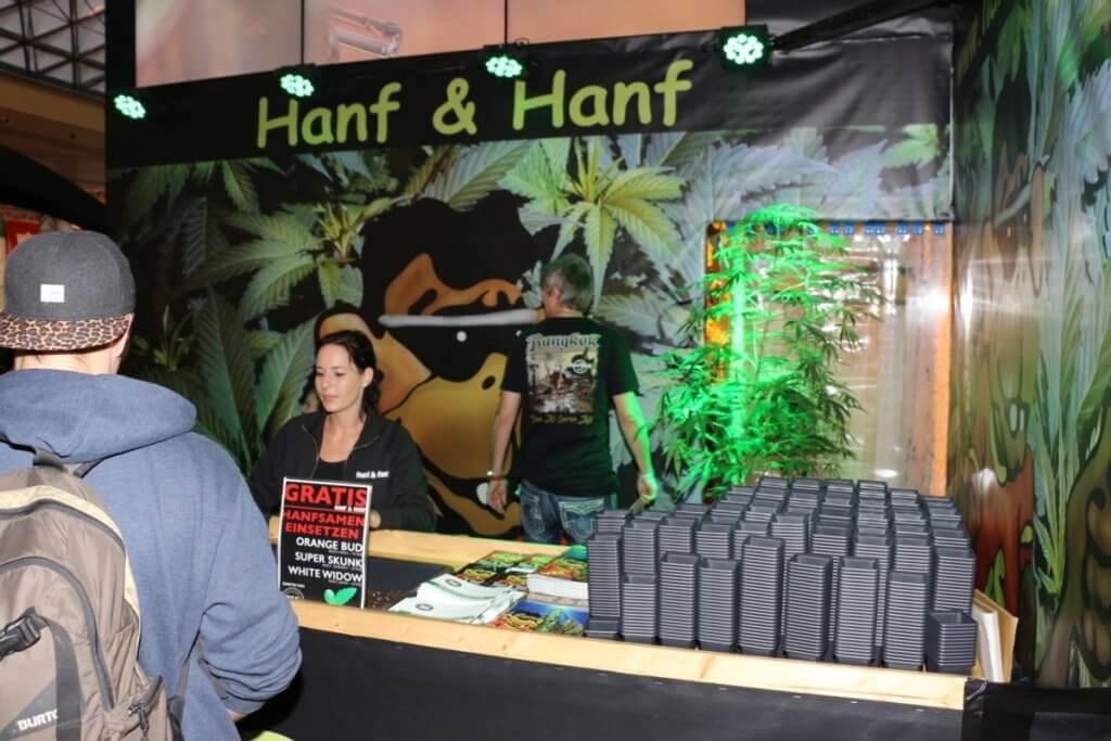 Frisch gepflanzt und gratis auf der Hanfmesse Cultiva