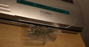 Marihuana nur vakuumieren, wenn es wirklich trocken ist
