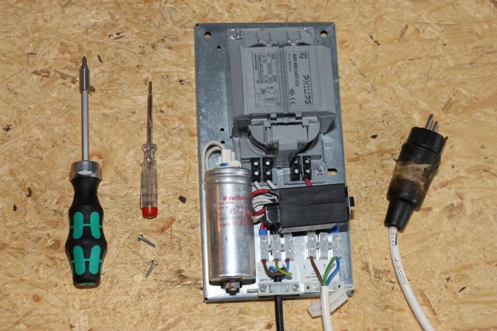 Einige Growkammer Leuchtmittel brauchen ein Vorschaltgerät zum Starten
