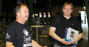 Wenzel mit seinem Pressemann