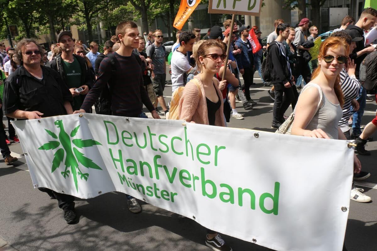 Die DHV Ortsgruppe Hanffreunde Münster mit dabei