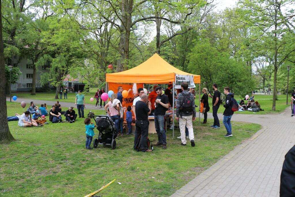 Lukas Lamla nach der GMM Demo im Westpark