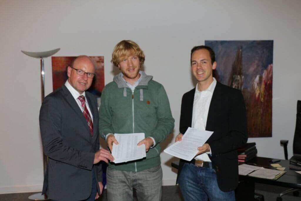 Antragsteller an die Stadt Münster, Markus Lewe links