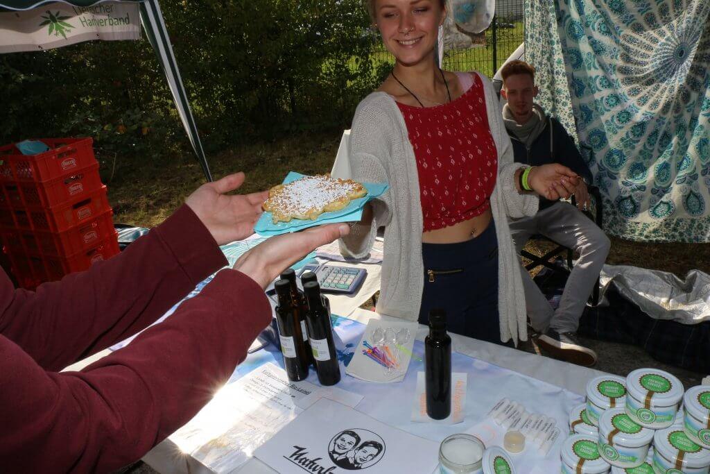 Waffel mit Kokosfett bei den Naturburschen auf dem Hammf e.V. Sommerfest 2017